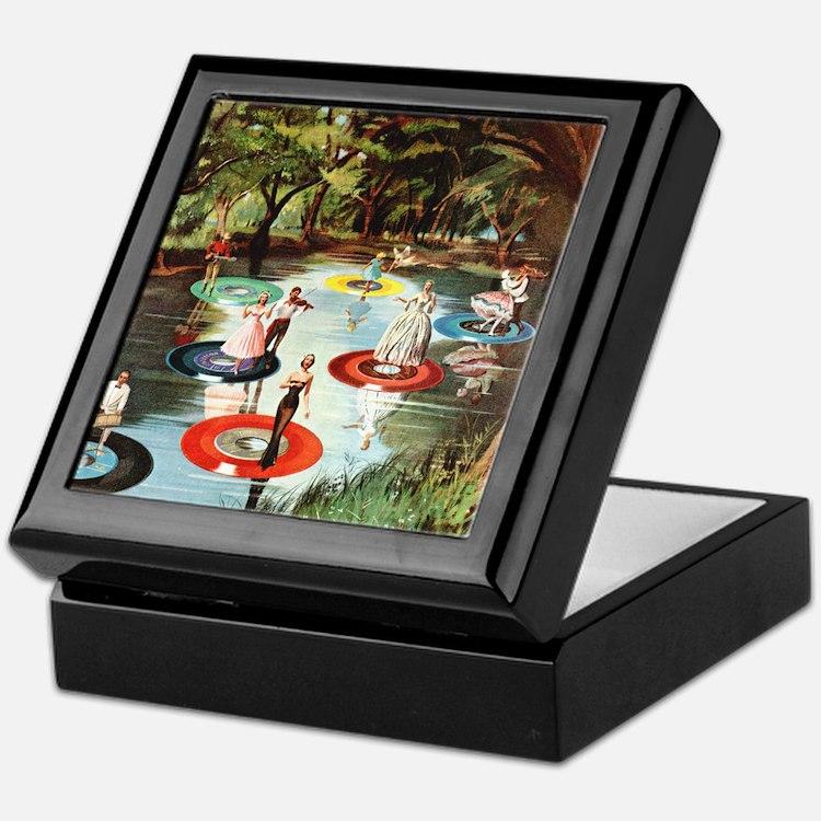 Phonograph/Record Player Keepsake Box
