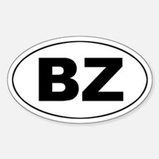 Belize (BZ) Oval Decal