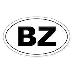 Belize (BZ) Oval Sticker