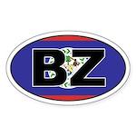 Flag of Belize Oval Sticker