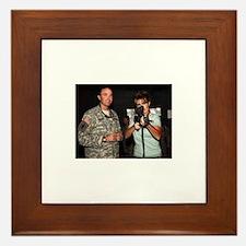 Sarah Palin with Rifle Framed Tile