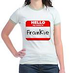 Hello my name is Frankie Jr. Ringer T-Shirt