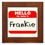 Hello my name is Frankie Framed Tile