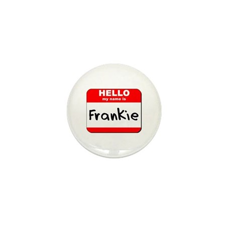 Hello my name is Frankie Mini Button (10 pack)