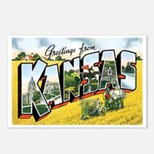 Kansas KS Postcards (Package of 8)