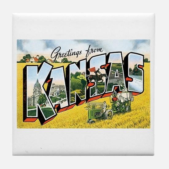 Kansas KS Tile Coaster
