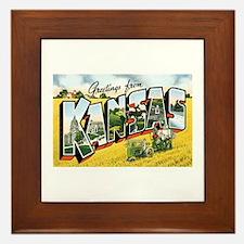 Kansas KS Framed Tile