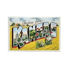 Kansas KS Rectangle Magnet