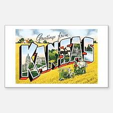 Kansas KS Rectangle Decal