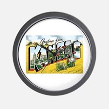 Kansas KS Wall Clock