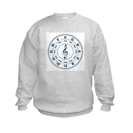 Dk. Blue Circle of Fifths Kids Sweatshirt