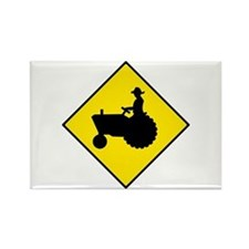 Tractor Crossing Sign - Rectangle Magnet