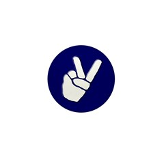 Peace Hand 1 inch Button (100 pack)