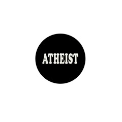 1 Inch Atheist Small Button (100 pack)