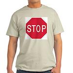 Stop Sign Ash Grey T-Shirt