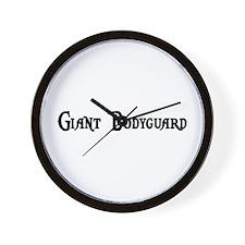 Giant Bodyguard Wall Clock