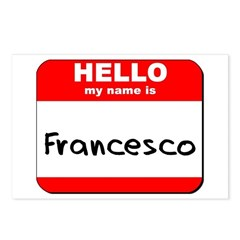 Hello my name is Francesco Postcards (Package of 8