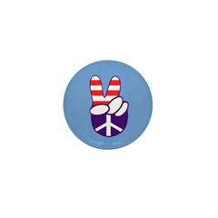 Ten Patriotic Peace Hand 1 Inch Buttons