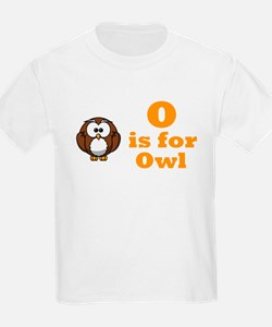 """O is for Owl"" T-Shirt"