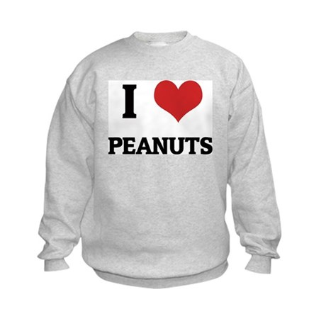 I Love Peanuts Kids Sweatshirt