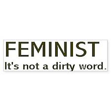 """Dirty Word"" Bumper Sticker (10 pk)"