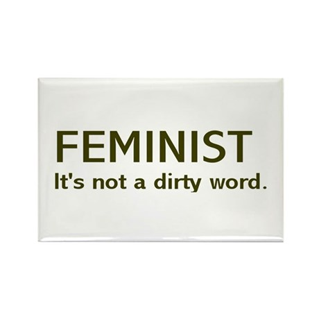 """Dirty Word"" Rectangle Magnet (10 pack)"