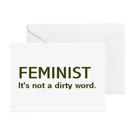 """Dirty Word"" Greeting Cards (Pk of 10)"