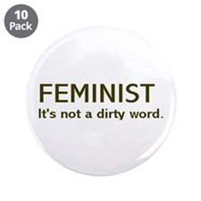 """Dirty Word"" 3.5"" Button (10 pack)"