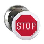"""Stop Sign - 2.25"""" Button (10 pack)"""