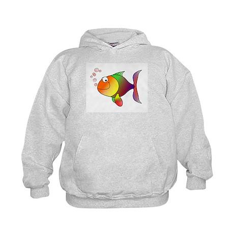 Rainbow Fish Kids Hoodie