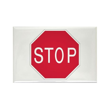 Stop Sign - Rectangle Magnet