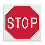 Stop Sign - Tile Coaster