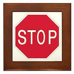 Stop Sign - Framed Tile