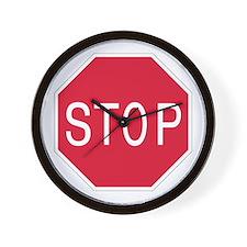Stop Sign - Wall Clock