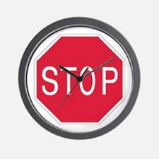 Stop Sign - Wall Clock