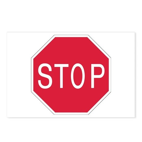 Stop Sign - Postcards (Package of 8)
