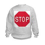 Stop Sign - Kids Sweatshirt