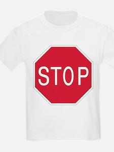 Stop Sign - Kids T-Shirt