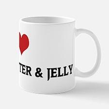 I Love Peanut Butter & Jelly Small Small Mug