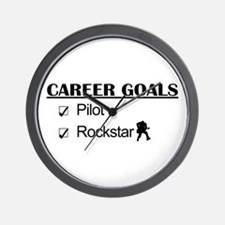 Pilot Career Goals - Rockstar Wall Clock