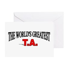 """""""The World's Greatest T.A."""" Greeting Card"""