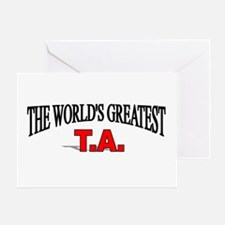 """The World's Greatest T.A."" Greeting Card"