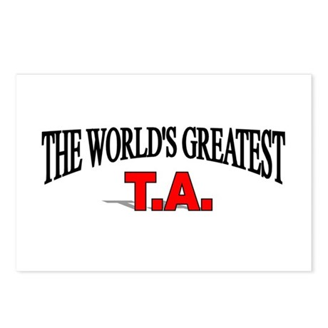 """""""The World's Greatest T.A."""" Postcards (Package of"""