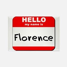 Hello my name is Florence Rectangle Magnet