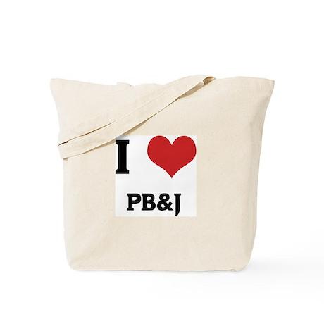 Love PB&J Tote Bag by iheartshirt