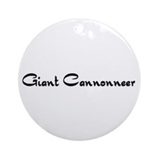 Giant Cannonneer Ornament (Round)