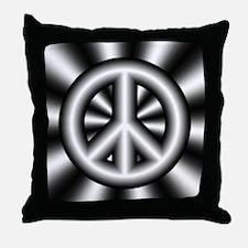 Gray Peace Symbol Pillow