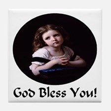 Child Praying Tile Coaster