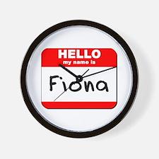 Hello my name is Fiona Wall Clock