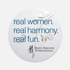 Real Women Ornament (Round)